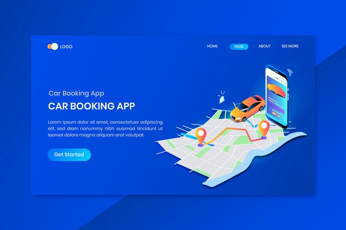 Thumbnail for Driver App Concept Landing Page