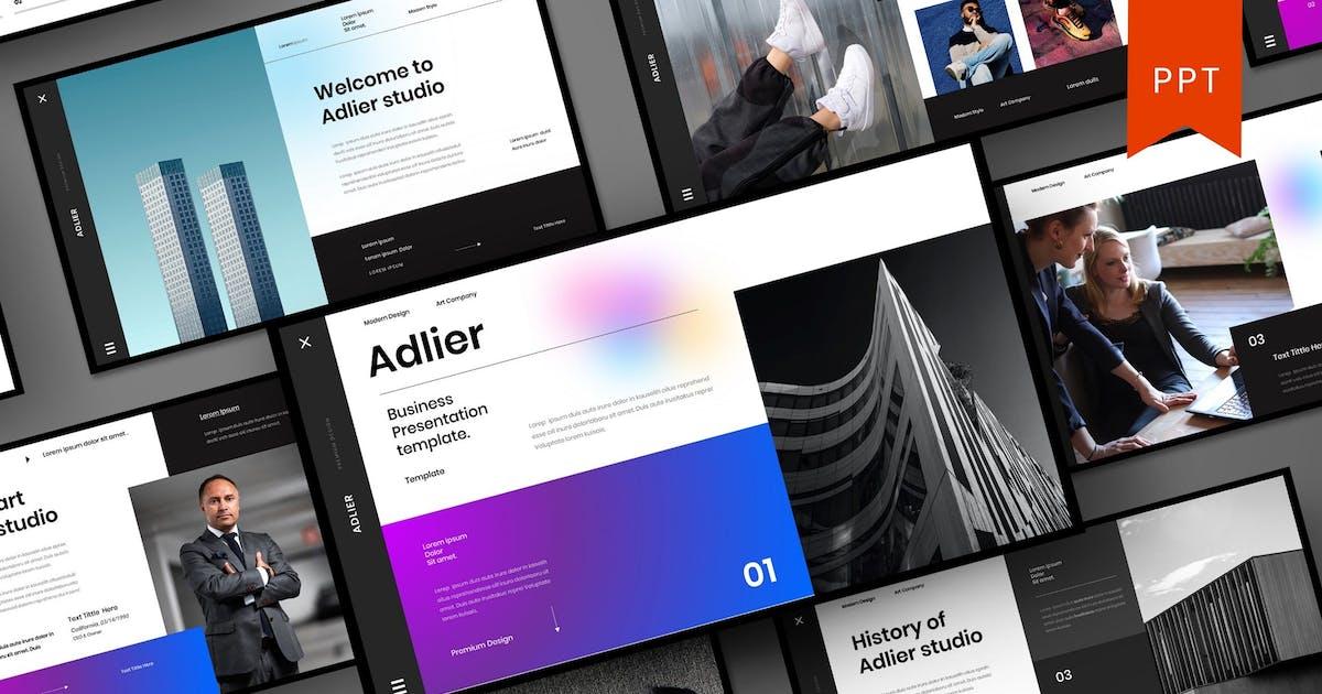 Download Adlier – Business PowerPoint Template by DensCreativeStudio