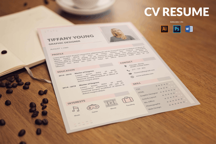 Cover Image For CV Resume Simple And Elegant