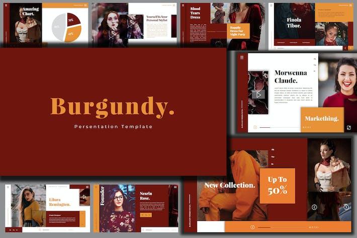 Thumbnail for Bungundy Fashion - Google Slides Presentation