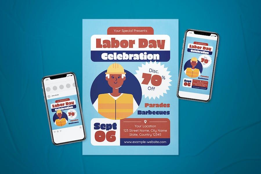 Labor Day Celebration Flyer Set