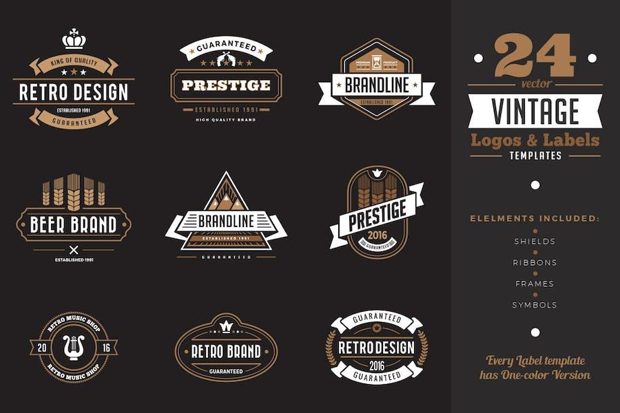 Vintage Labels Badges Logo Templates