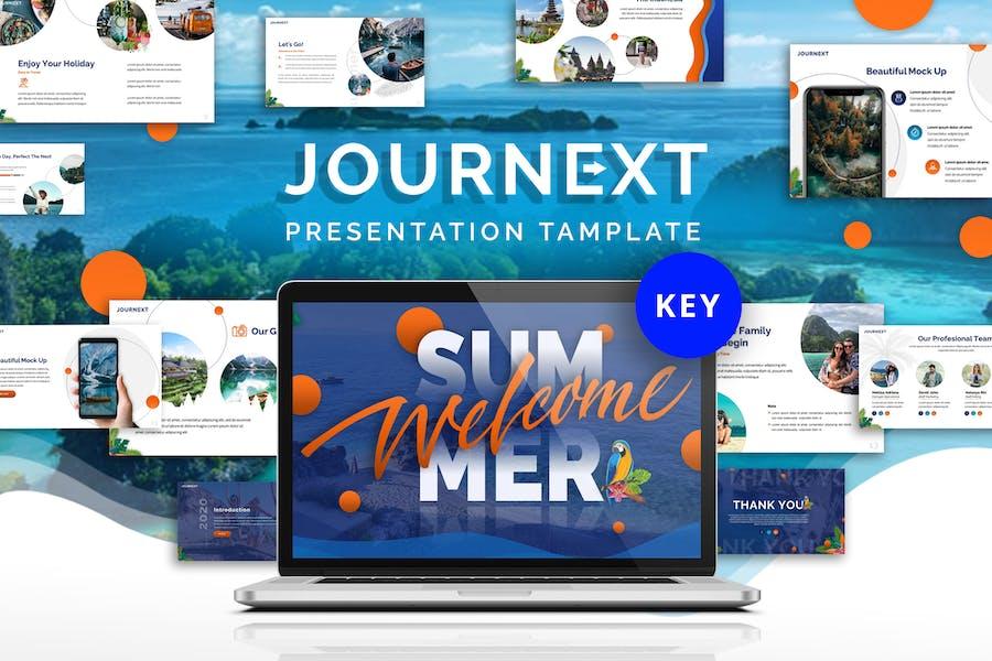 Journext - Шаблон Keynote поездки