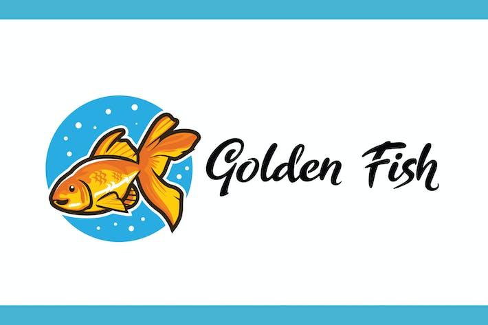 Thumbnail for Logo Mascotte de dessin animé avec poisson doré