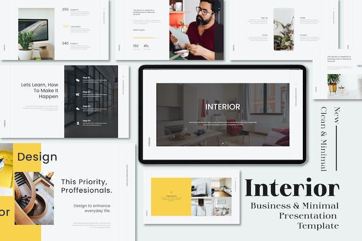 Thumbnail for Interior Business & Minimal Google Slides Template
