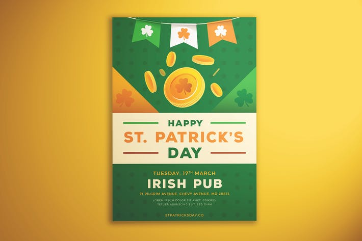 Cover Image For Happy  St. Patrick's Day Flyer