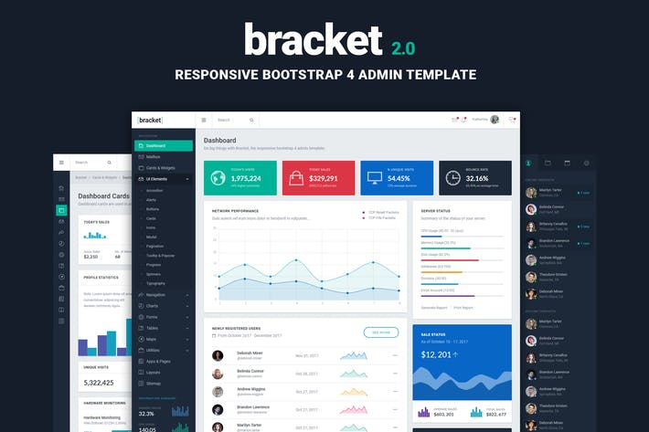 Bracket Responsive Bootstrap Admin Template