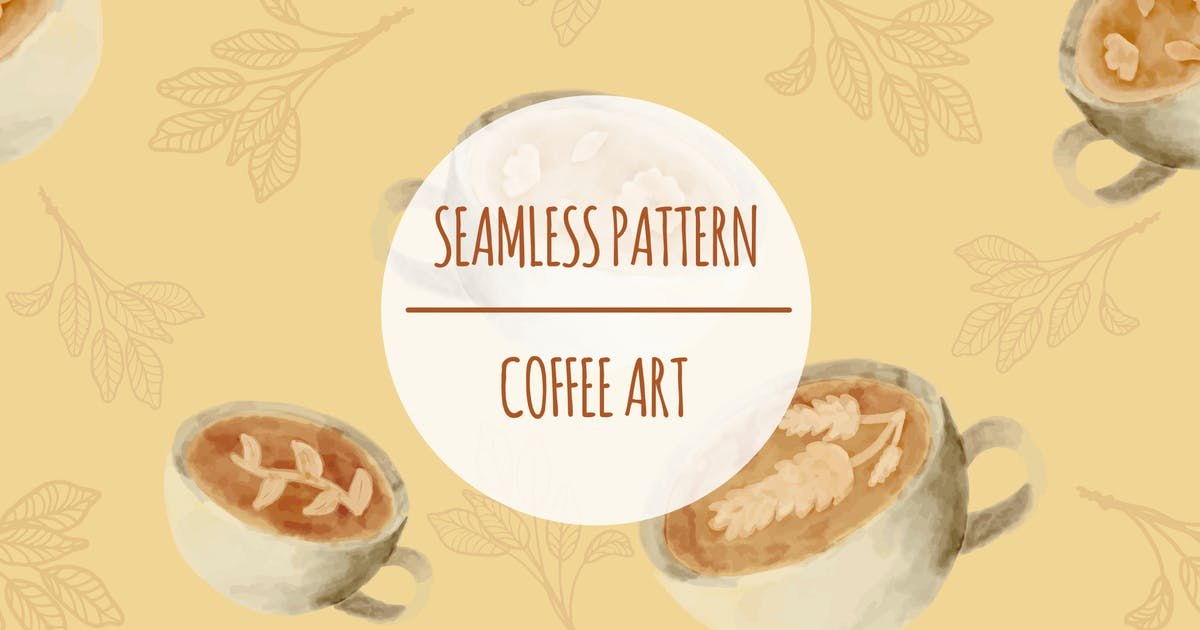 Coffee Art – Seamless Pattern by designesto