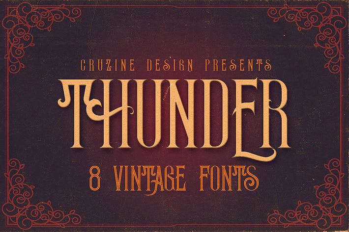 Thumbnail for Thunder Typeface