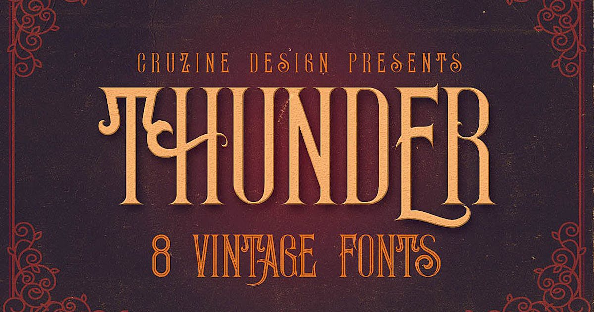 Download Thunder Typeface by cruzine