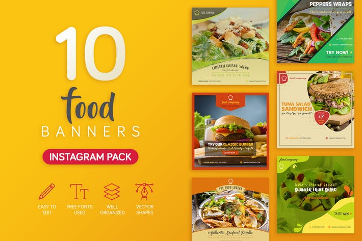 Thumbnail for Food Banners