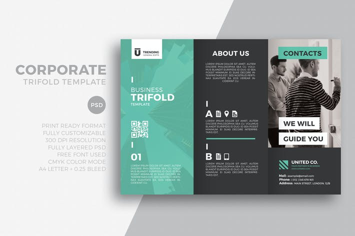 Thumbnail for Corporate trifold template