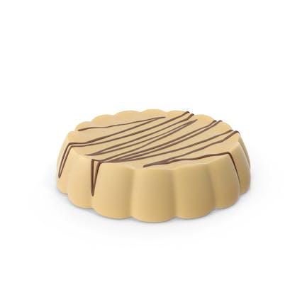 Disk Weiße Schokolade mit Schokoladenlinien