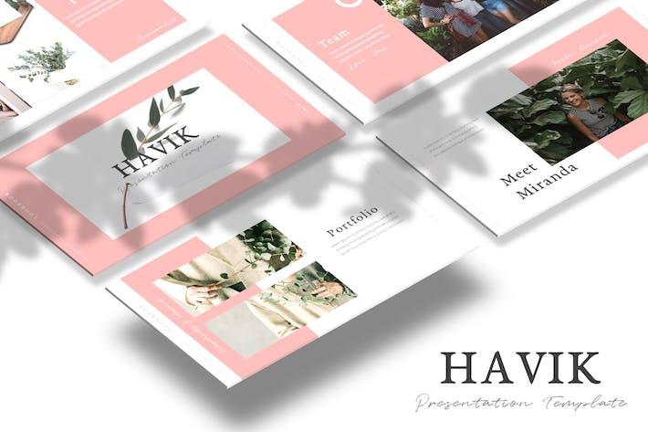 Thumbnail for Havik - Google Slides Template