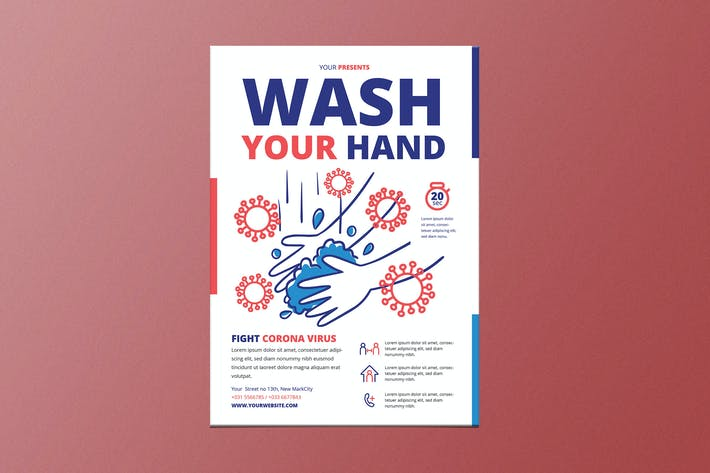 Thumbnail for Wash Your Hand Poster