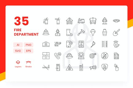 Fire Department - Icons Pack