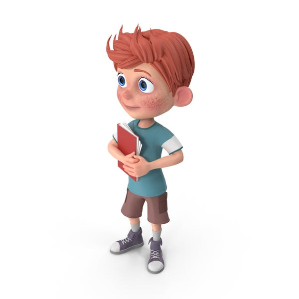 Cover Image for Cartoon Boy Charlie Holding Notepad