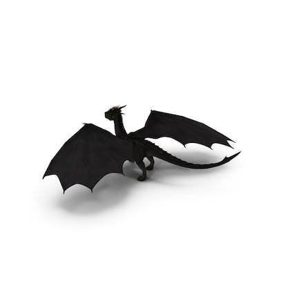 Mythischer Schwarzer Drache