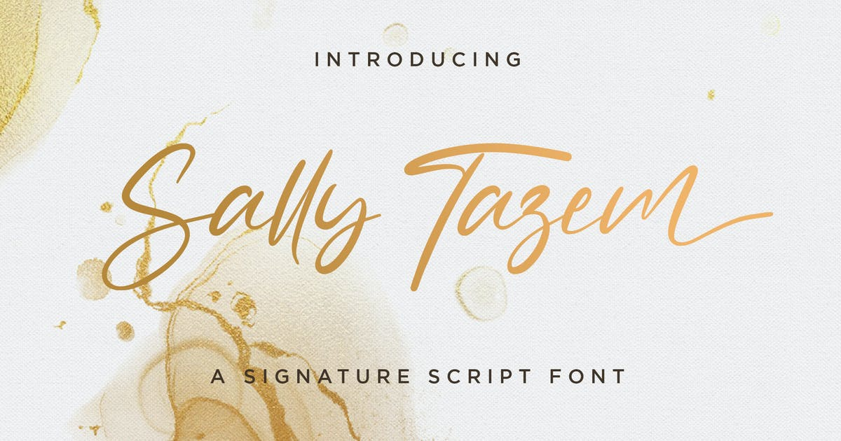 Download Sally Tazem - Handwritten Font by StringLabs