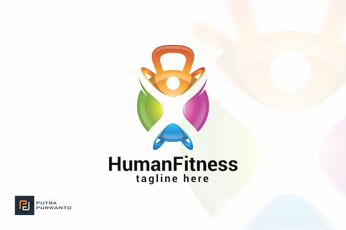 Cover Image For Human Fitness - Logo Template