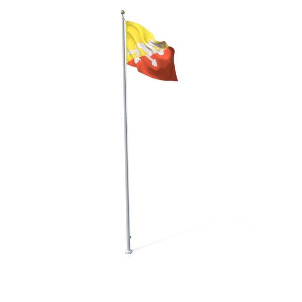 Thumbnail for Flag On Pole Bhutan