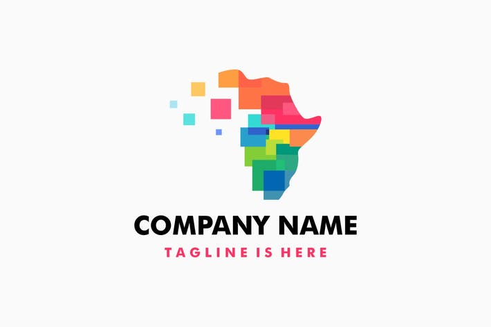 Africa Colorful Tech Logo