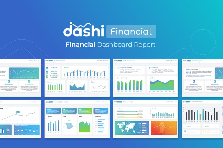 Cover Image For dashi - Financial Dashboard powerpoint template
