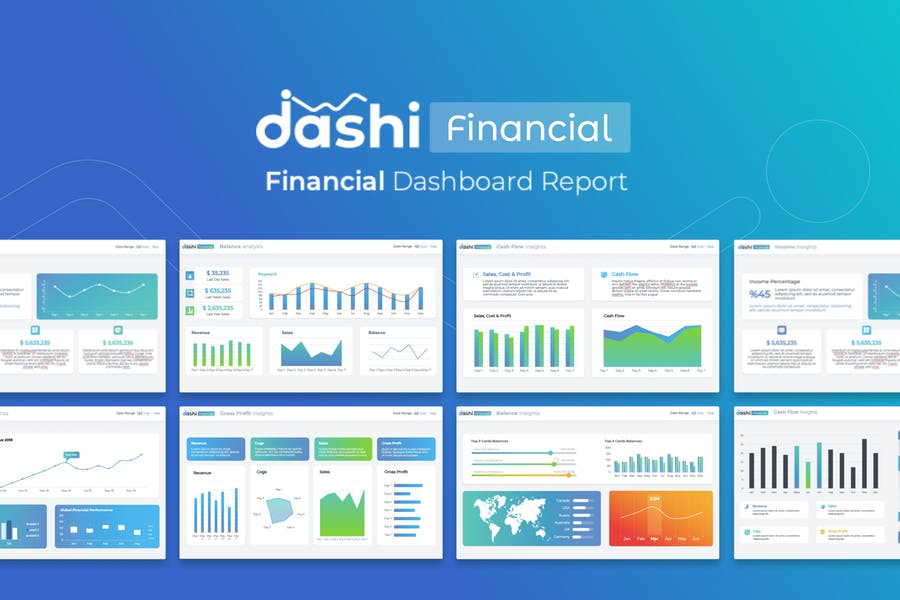 dashi - Financial Dashboard powerpoint template