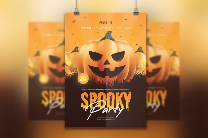Thumbnail for Halloween Flyer Template