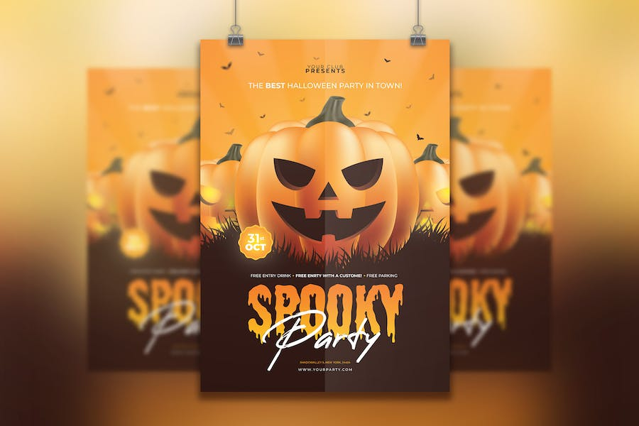 10 Best Halloween Flyer Templates