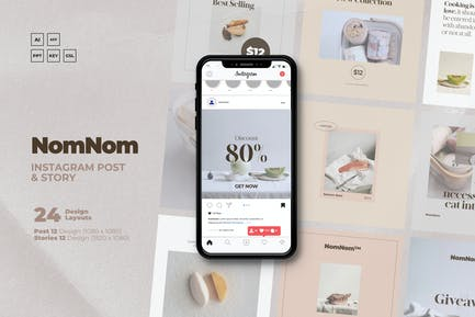 NomNom - F&B Clean IG Template