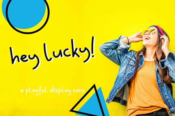 Thumbnail for Hey Lucky! Displays Sans