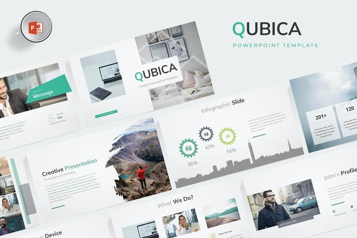 Thumbnail for Qubica - Powerpoint Template