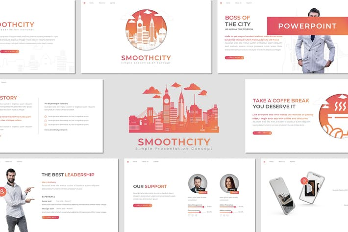 Smoothcity - Шаблон Powerpoint для бизнеса