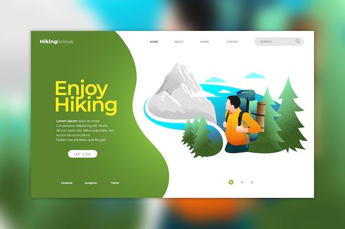 Thumbnail for Hiking Web Header Vector Template
