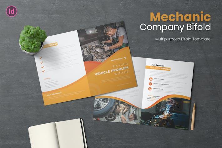Bifold-Broschüre für Mechaniker