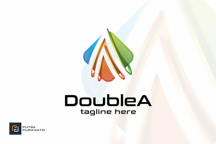 Thumbnail for Double A / Letter A - Logo Template