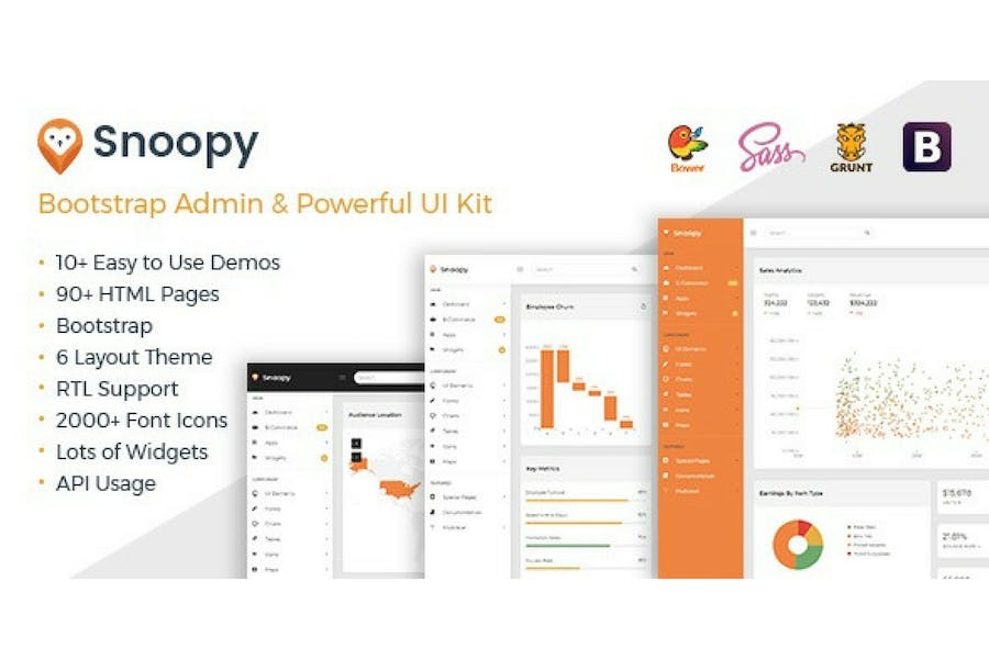 Snoopy - Multipurpose Bootstrap Admin Dashboard