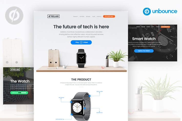 Thumbnail for Unbounce Product landing Page Template - Proland
