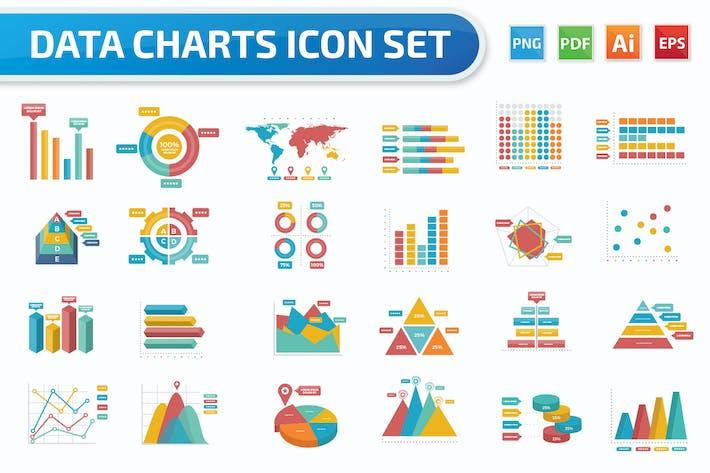 Thumbnail for Geschäftscharten-Icon-Set