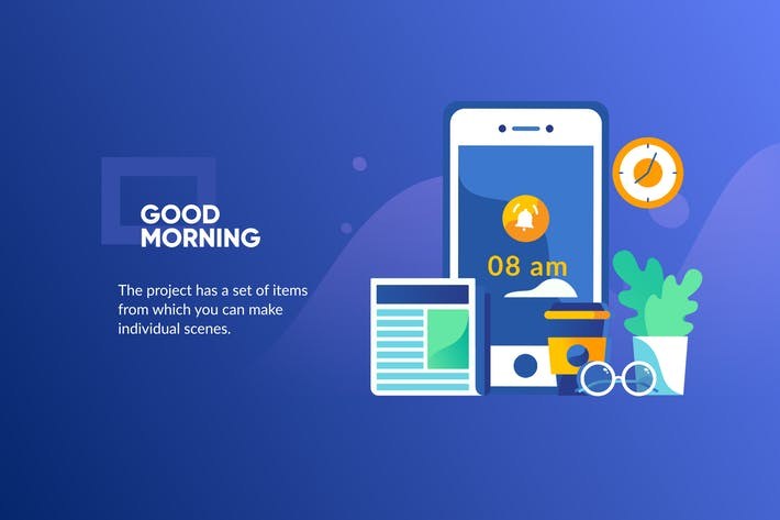 Thumbnail for Morning Banner & Landing Page