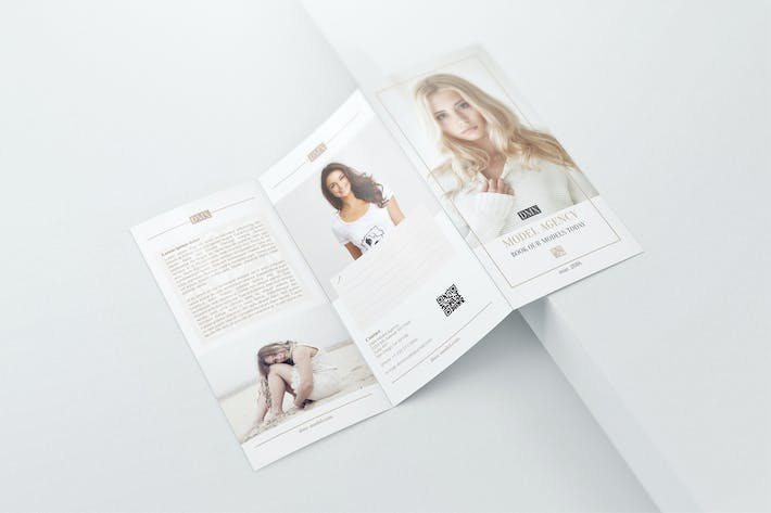 Thumbnail for DL Trifold Brochure Mockups