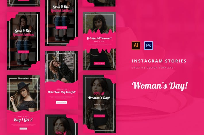 Thumbnail for Woman's Day Instagram Story Template