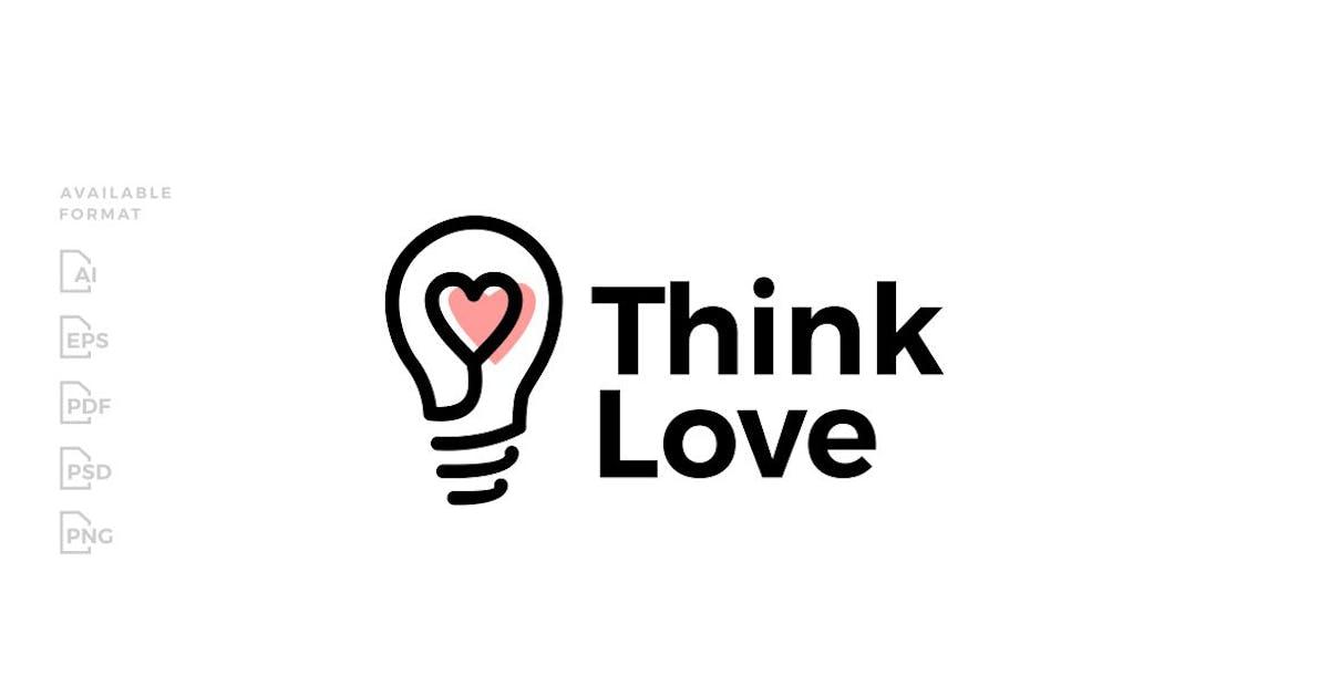 Download Think Love Bulb Heart Logo by gagavastard