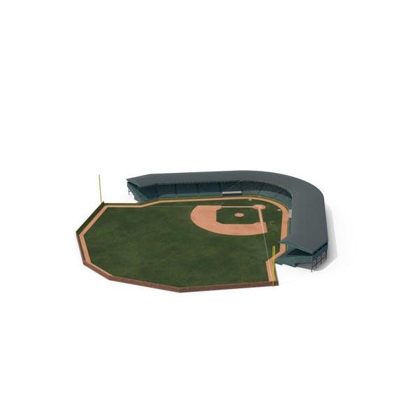 Thumbnail for Campo de béisbol con tribuna con pared de ladrillo con hiedra