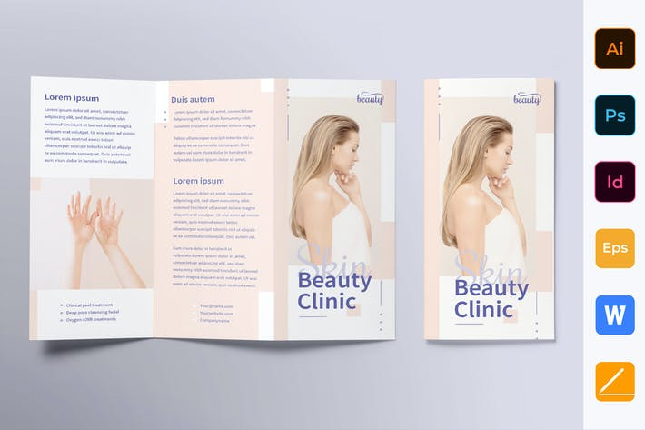 Thumbnail for Skin Beauty Clinic Brochure Trifold