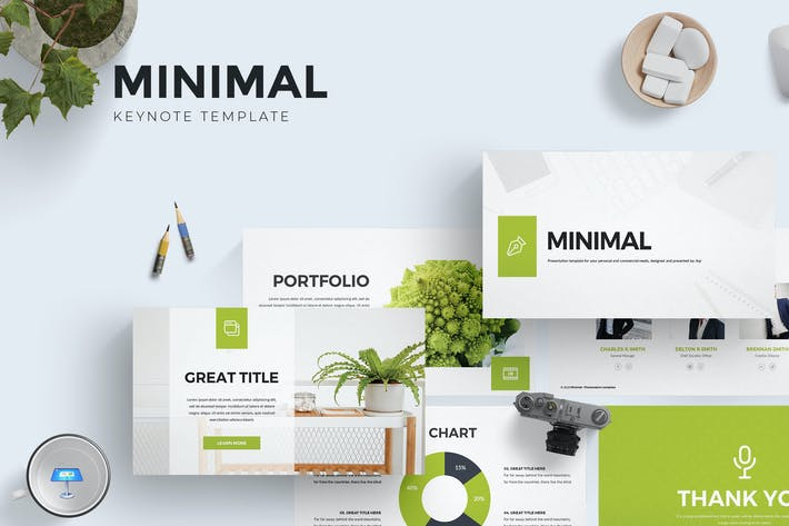 Cover Image For Minimal Keynote Template