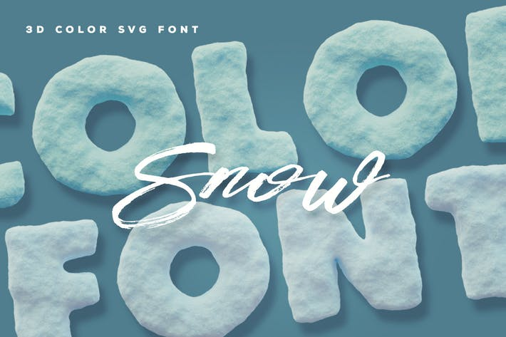 Thumbnail for Snow Color Font