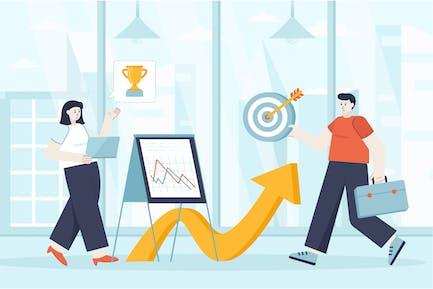 Oportunidades profesionales Ilustración Web Concepto plano