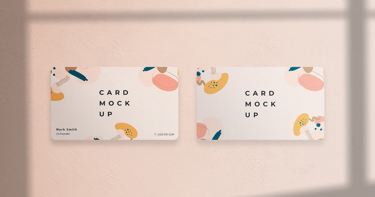Download Business Card Mockup with Round Corners Template by ExplicitConcepts